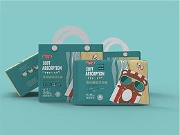 「Kele Bear 可乐熊母婴纸尿裤」包装设计