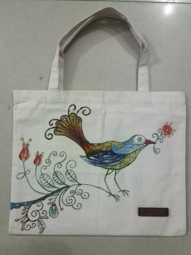 手绘手提袋|绘画习作|插画|zmzol