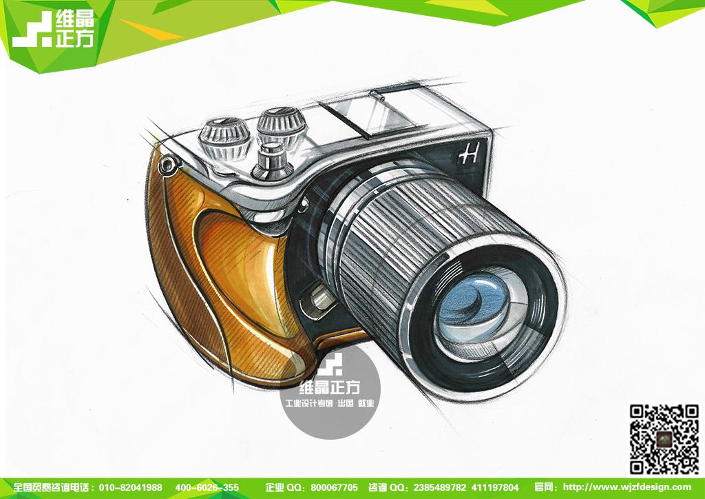 工业设计手绘-相机