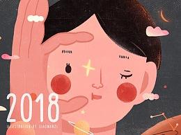 筱丸子之2018插画总结