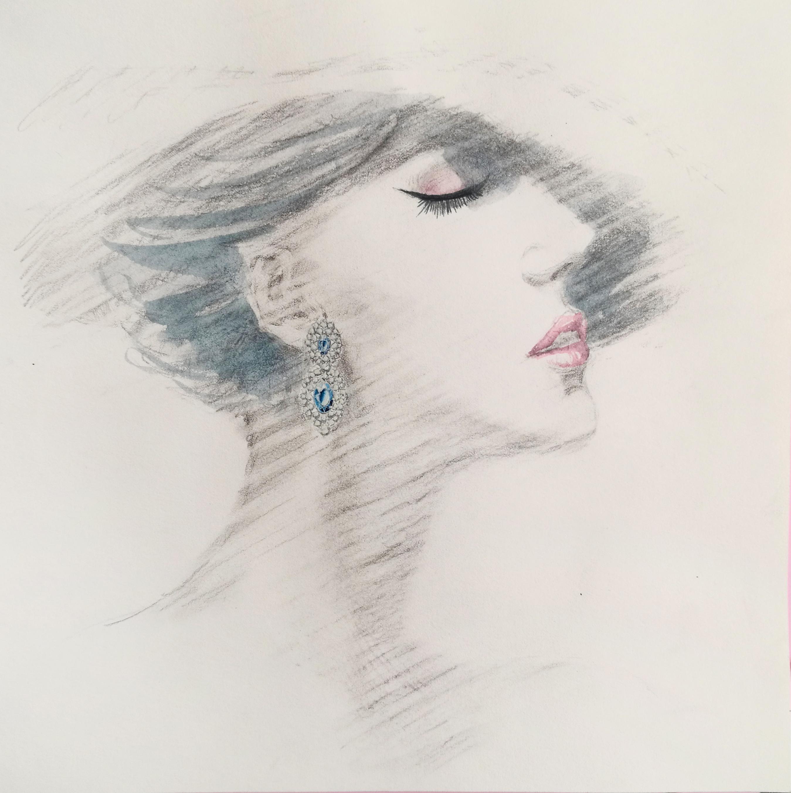 珠宝手绘|手工艺|首饰|不装会死美少女 - 原创作品