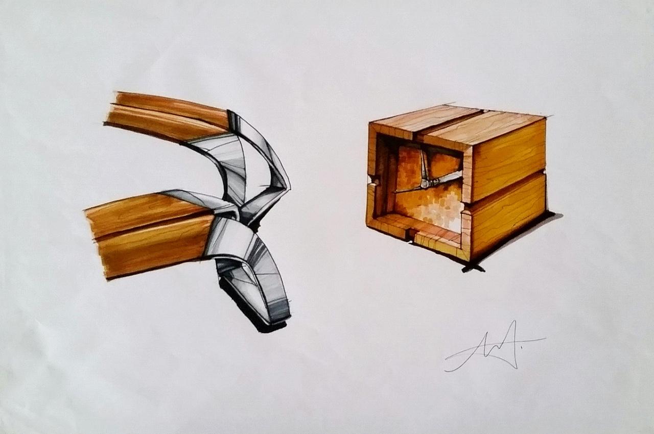 产品手绘:针管笔 马克笔