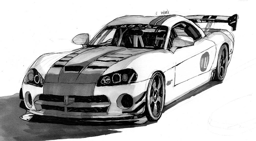 最爱题材之一——手绘汽车|插画|插画习作|矩阵gtr