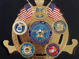 6合1  组合 冰箱贴  美国五军军徽