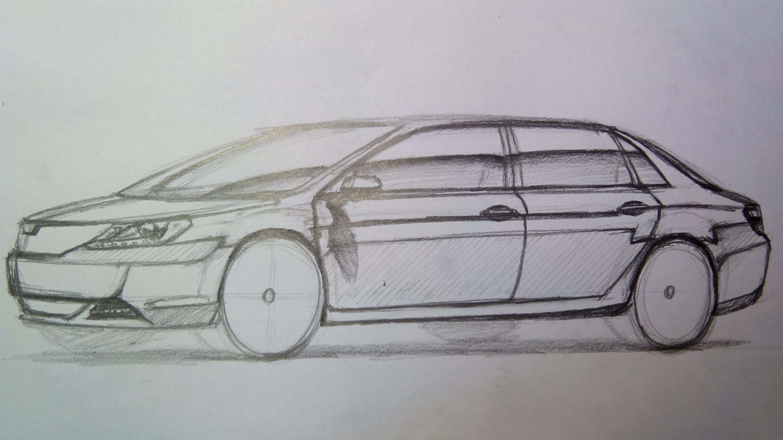 汽车设计草图图片