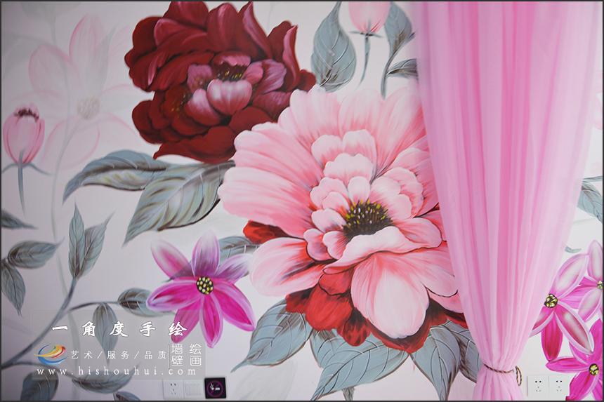 酒店主题墙绘,彩绘,手绘壁画