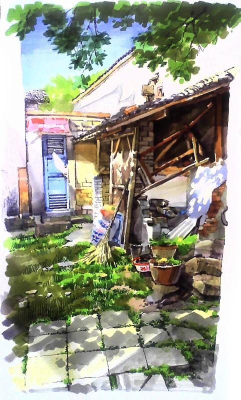 建筑手绘,建筑画,手绘图片