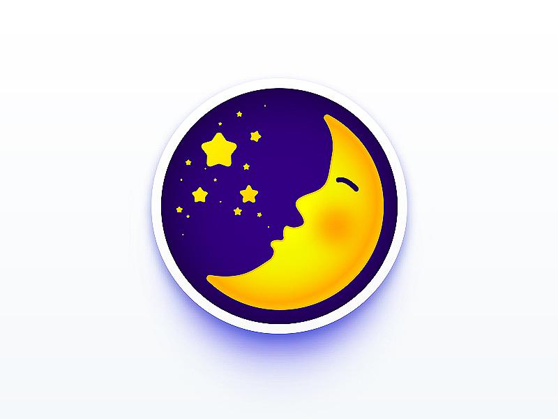 星星是月亮吹出的泡泡图片
