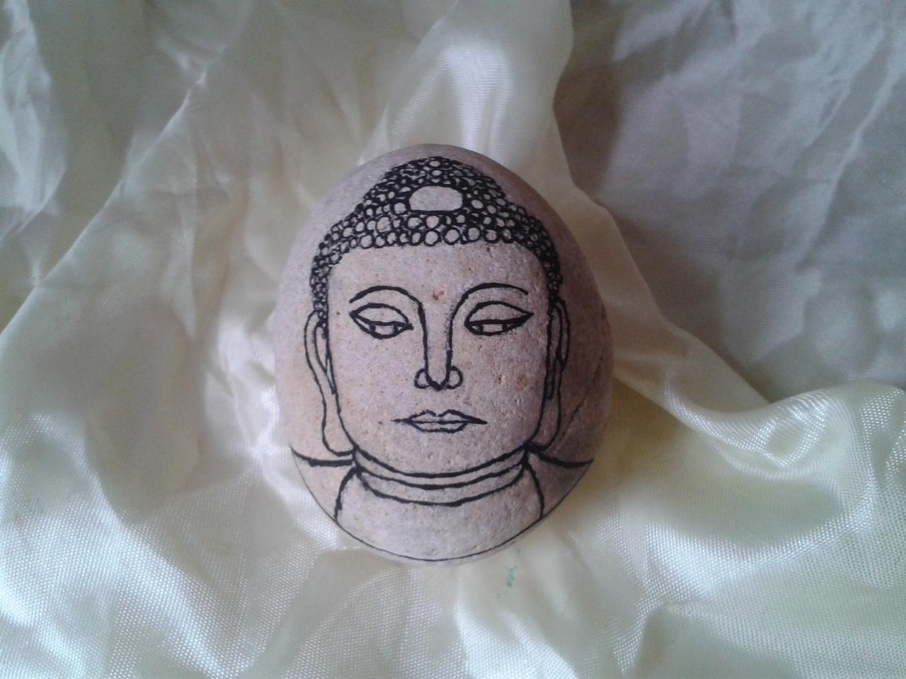手绘石头画