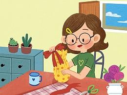 中小学生英语杂志类商业欧美风格儿童插画
