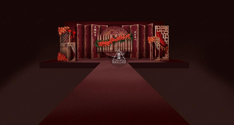 【效果图】中式典雅婚礼手绘