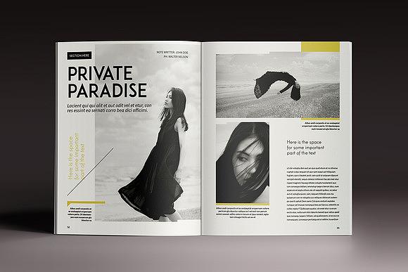 杂志画册模特时装秀展示画册模板周刊模板indesign模板图片