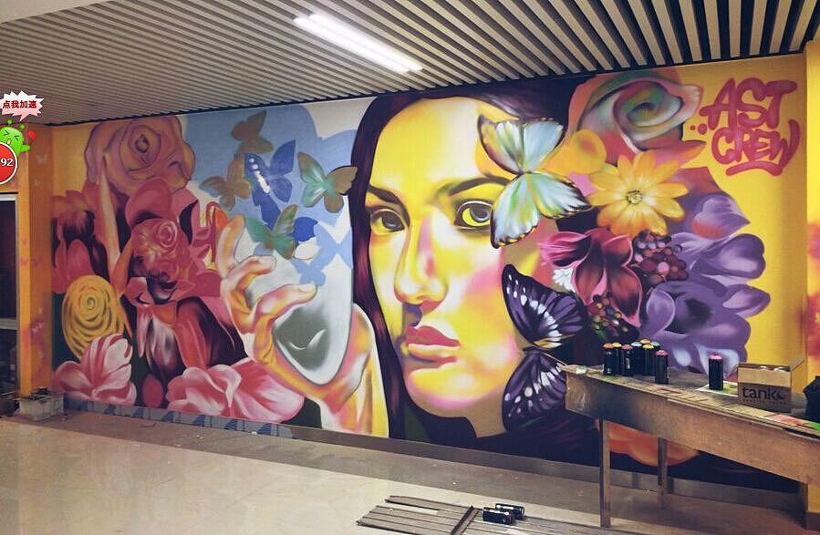 上海.苏州涂鸦墙手绘墙工作室公司定制涂鸦墙绘作品