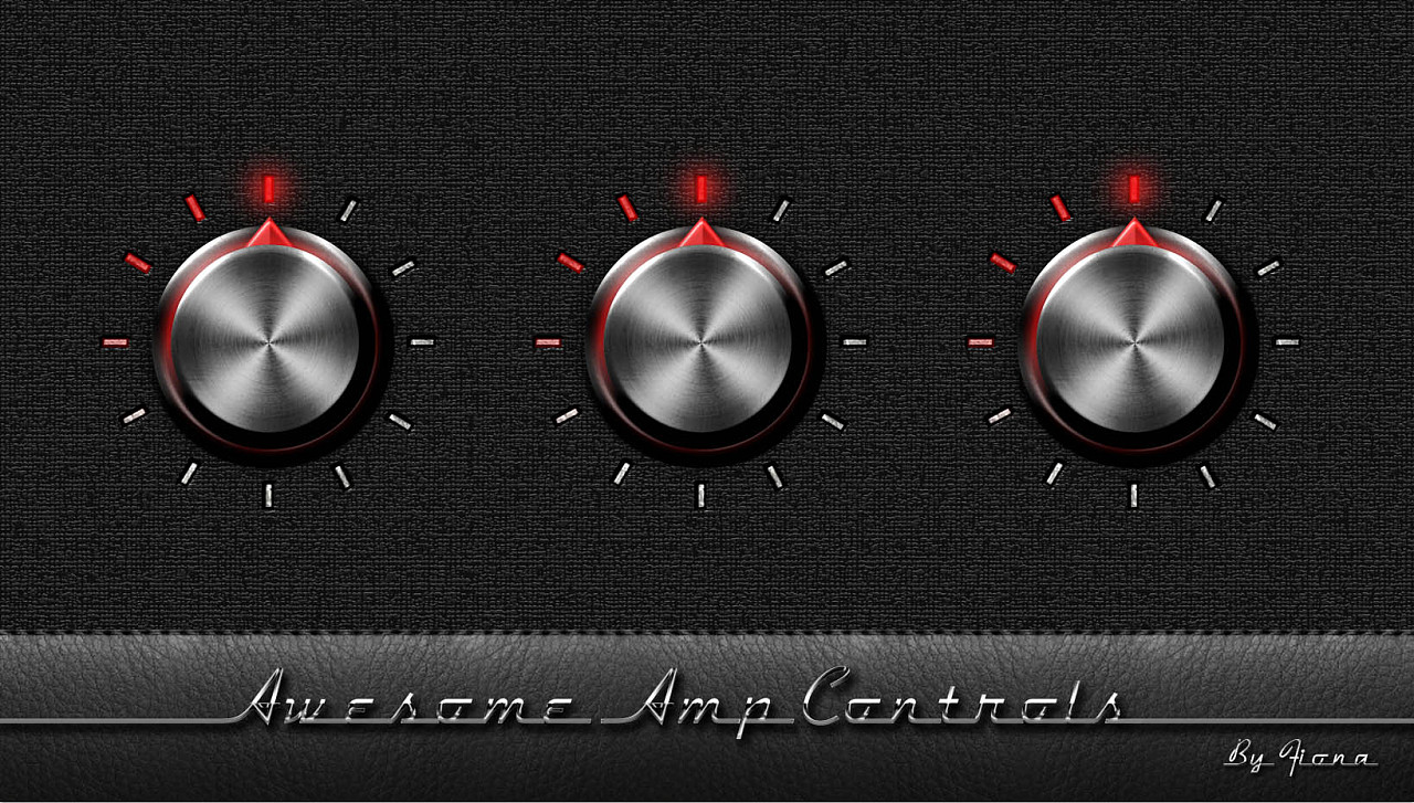 awesome amp controls in photoshop|ui|图标|suzhen图片