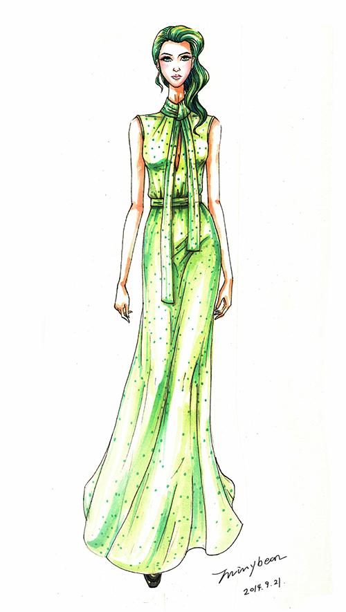 服装设计效果图之礼服设计