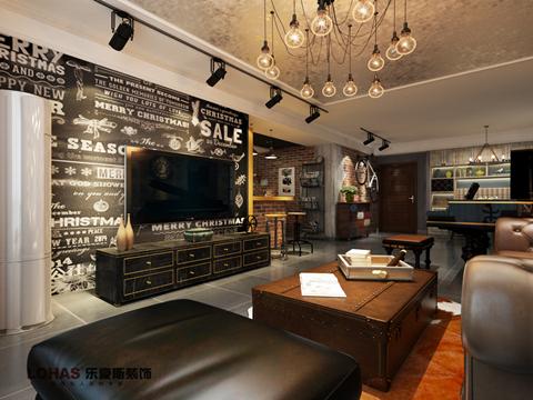 瀚唐三室装修效果图|室内设计|空间/建筑|乐豪斯设计