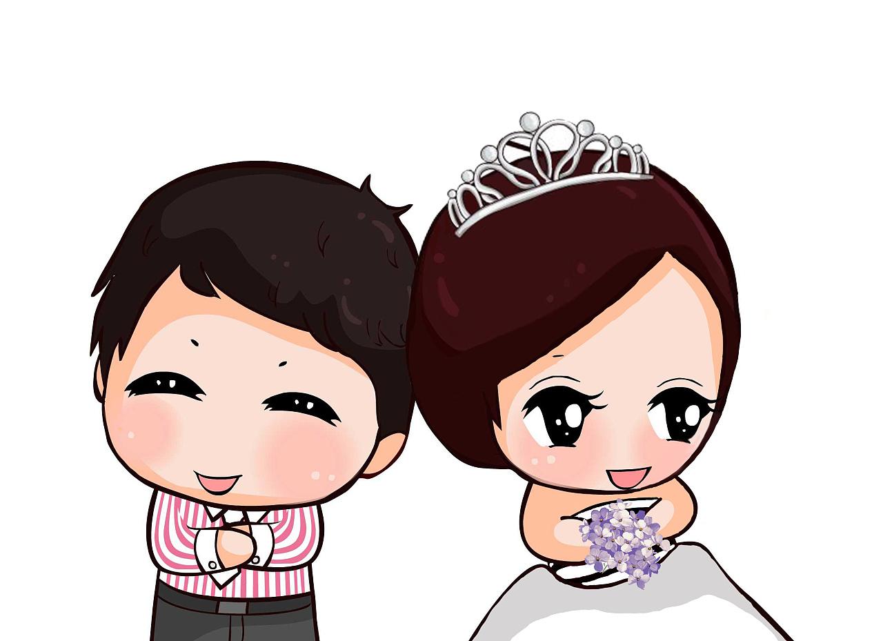 结婚卡通q版人物形象