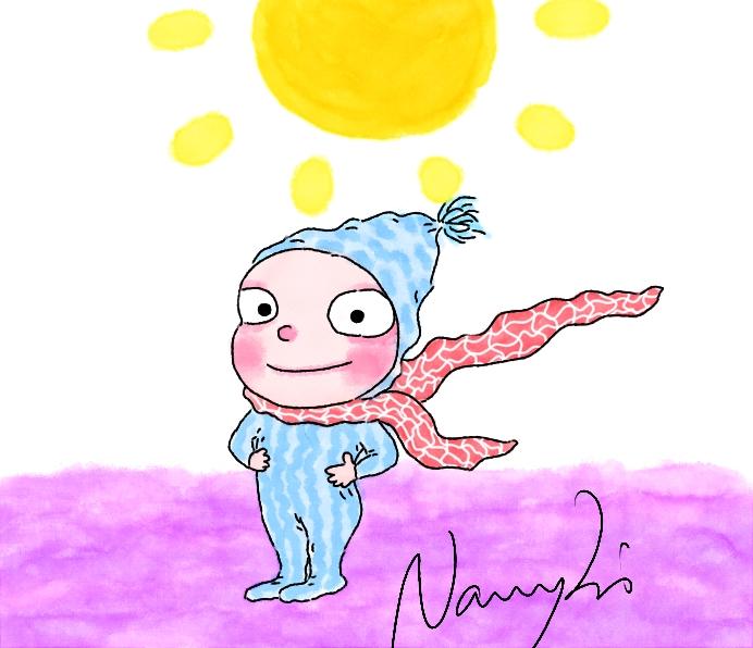 戴帽子的小孩|商业插画|插画|laver的画