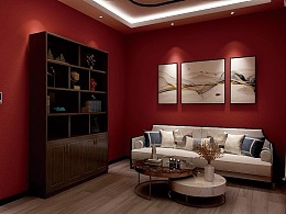 现代中式风格休息室设计