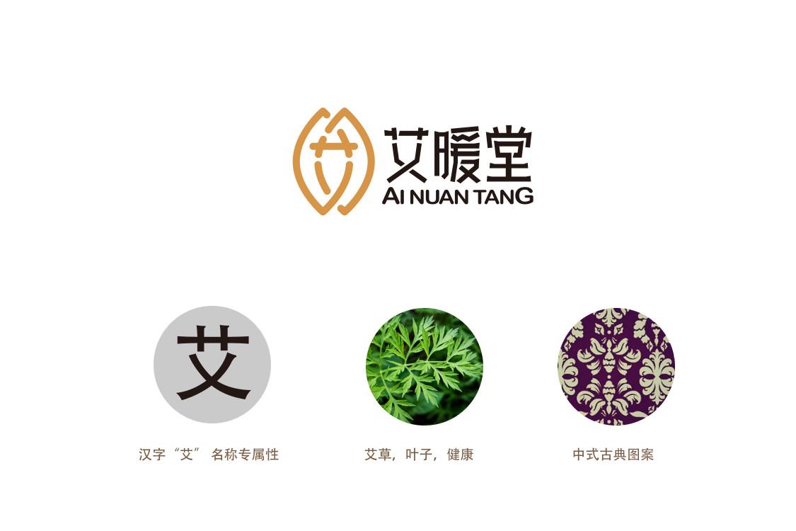中式标志设计——中药(艾暖堂)图片