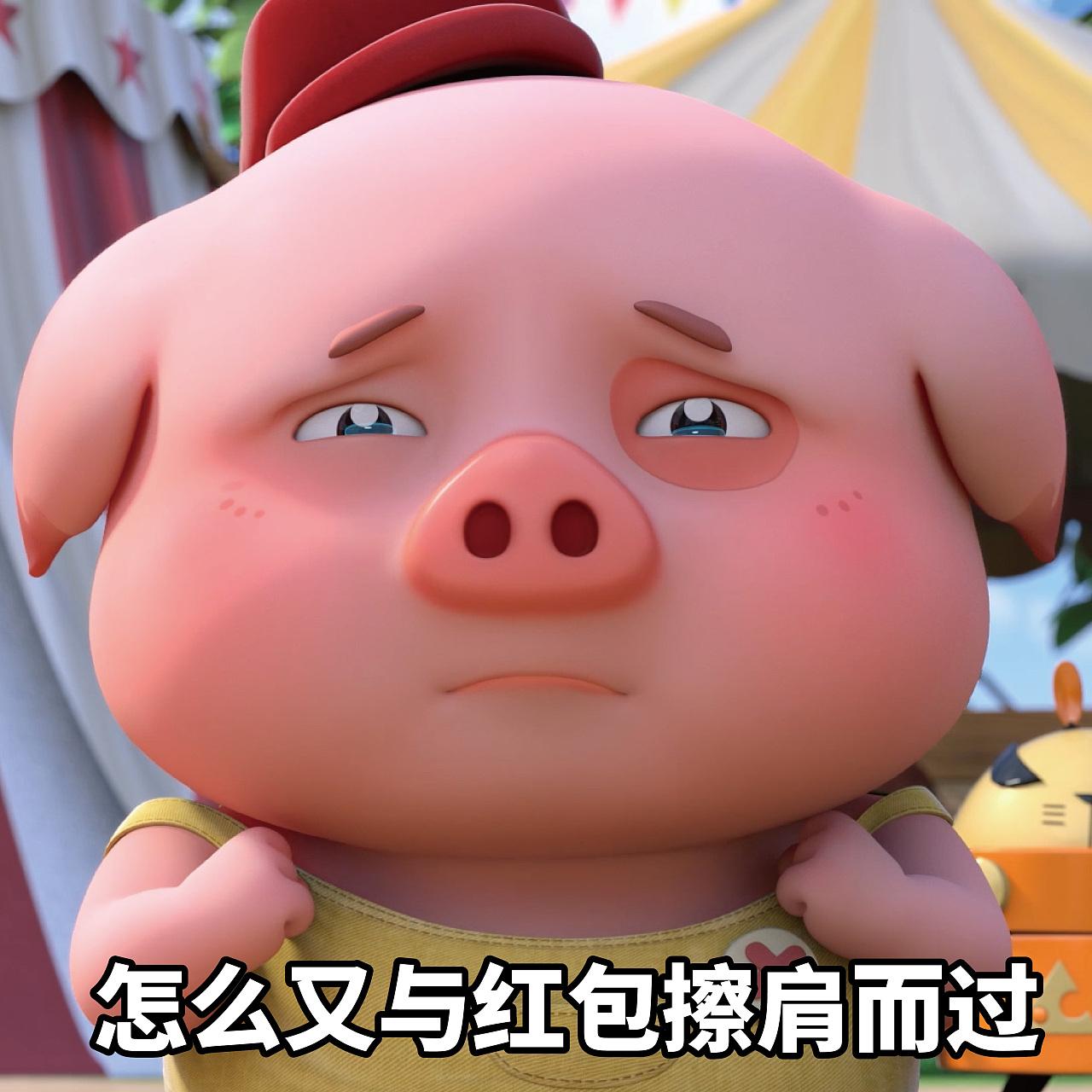豆豆猪表情:表情总是做我的兔子?小可爱表情包gif粉丝图片