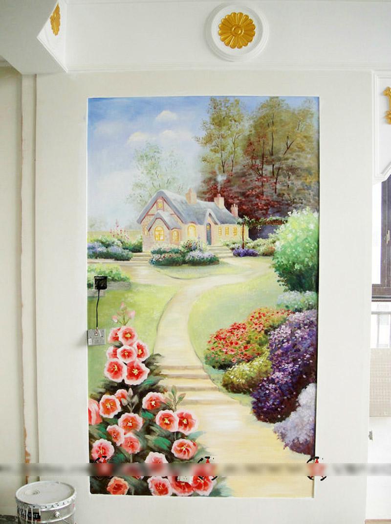 手绘墙|绘画习作|插画|滋屋左