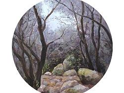 《幽境》系列   布面油画  35*35cm