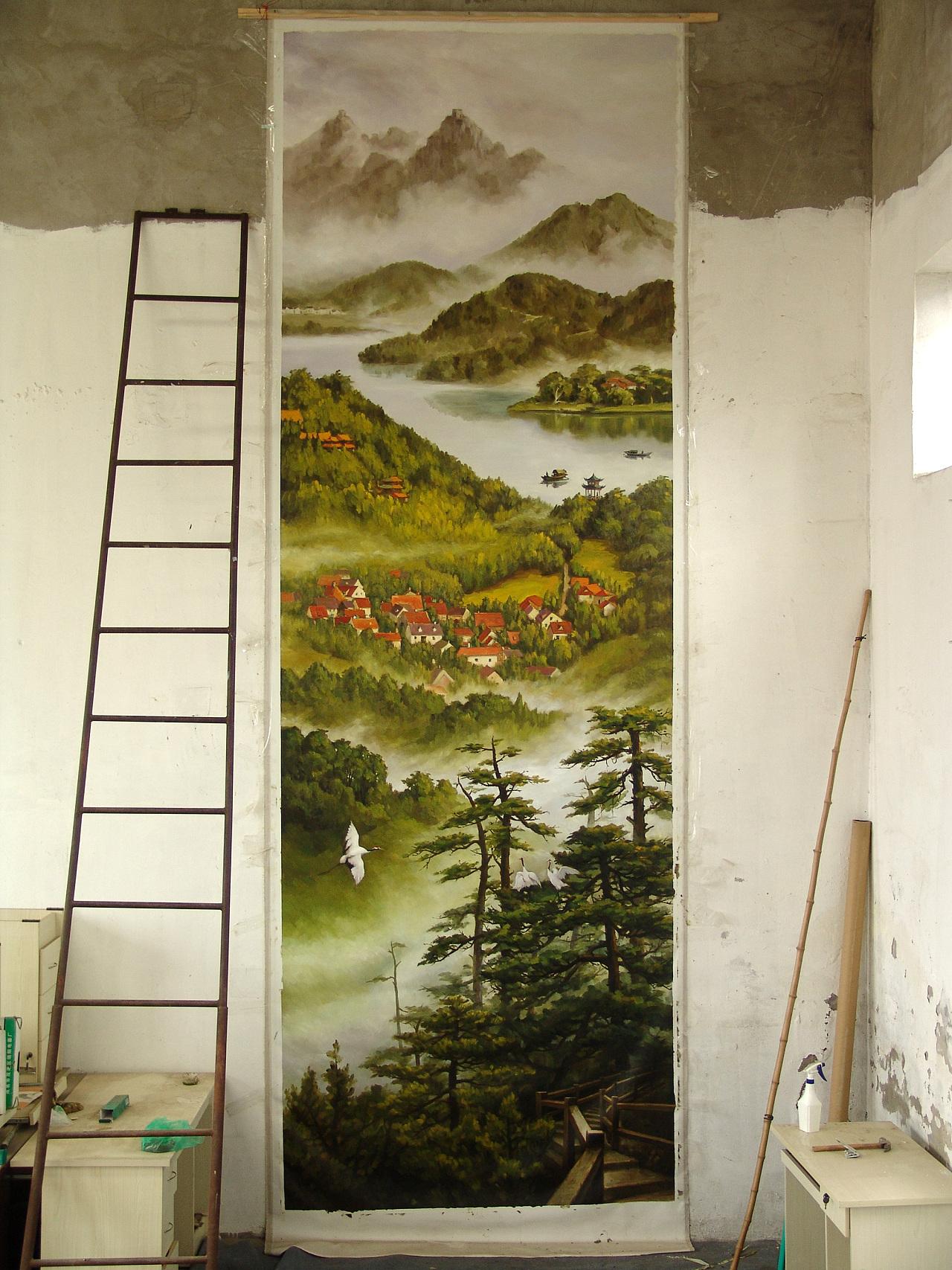 壁画怎么挂?