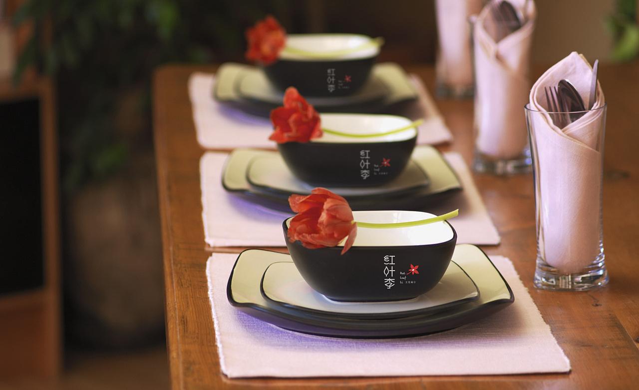 红叶李主题餐厅vi图片