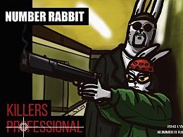 Number兔  电影海报系列——这只兔子有点彪