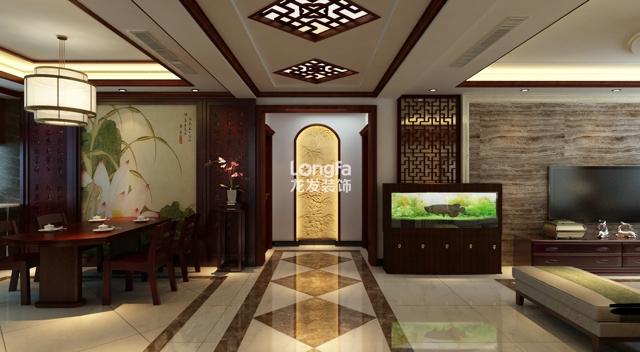 园168平米新中式风格 装修 古典情韵设计 效果 图