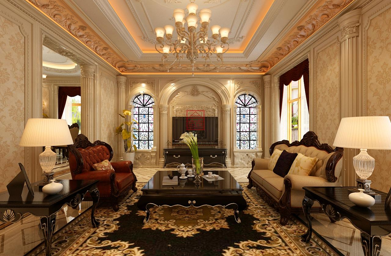 太行轩圃装修-古典巴洛克风格|空间|室内设计|别墅大