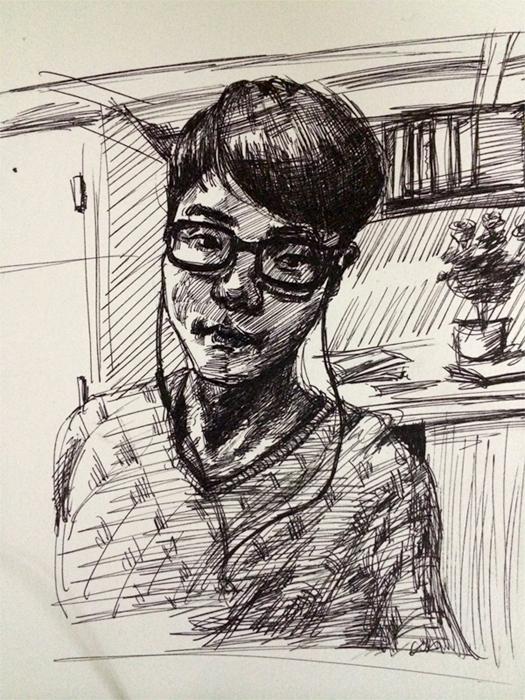 【手绘】碳素笔手绘