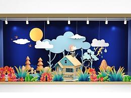 龙湖时代天街橱窗设计