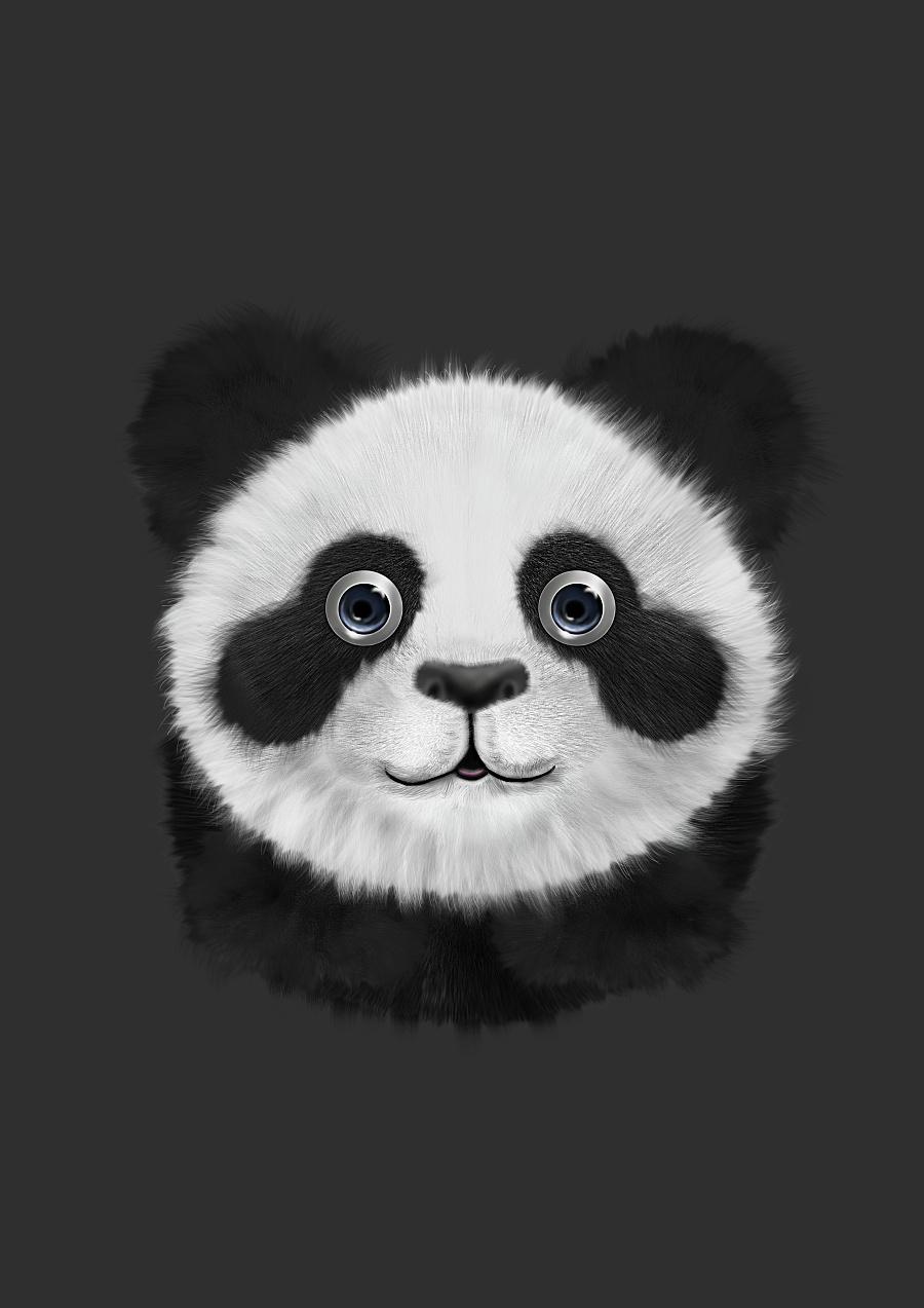 手绘大熊猫