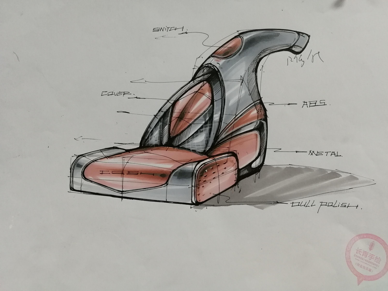 产品手绘|工业/产品|电子产品|长青手绘 - 原创作品