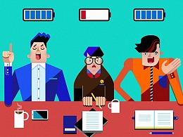 微软Microsoft平板电脑系列广告插画(2014)