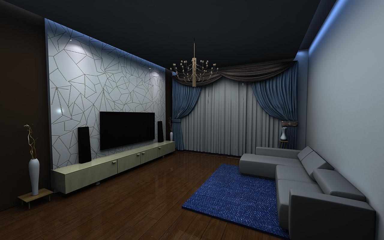 3d 室内装饰效果图|空间|建筑设计|花落谢满衣 - 原创