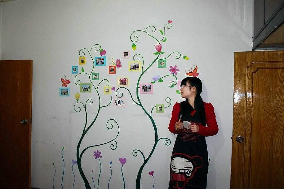 家里房间的墙绘