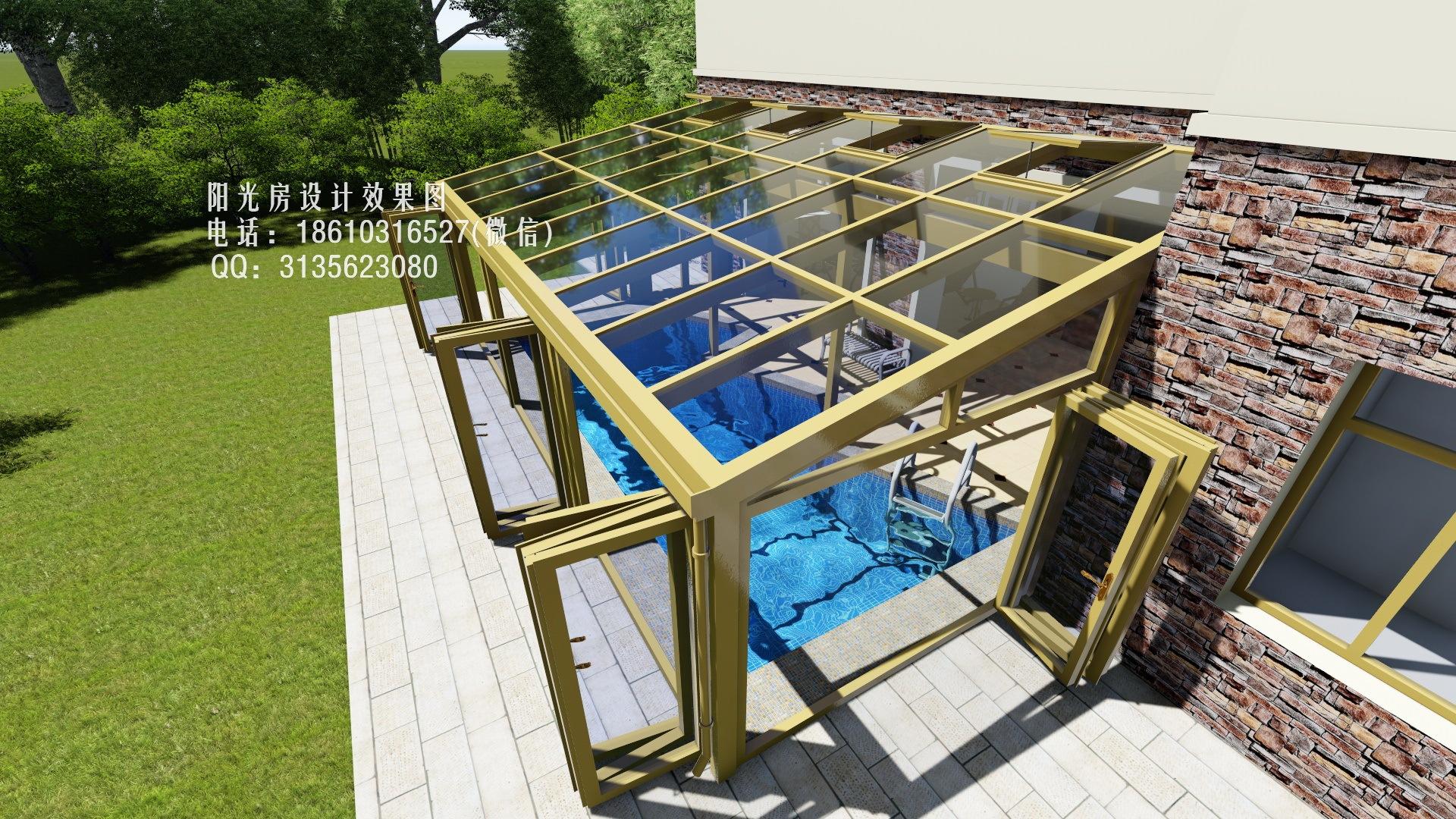 spa游泳池阳光房设计效果图|空间|建筑设计|阳光房2图片
