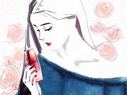 3.8天猫女王节-手绘水彩风格动态插画海报
