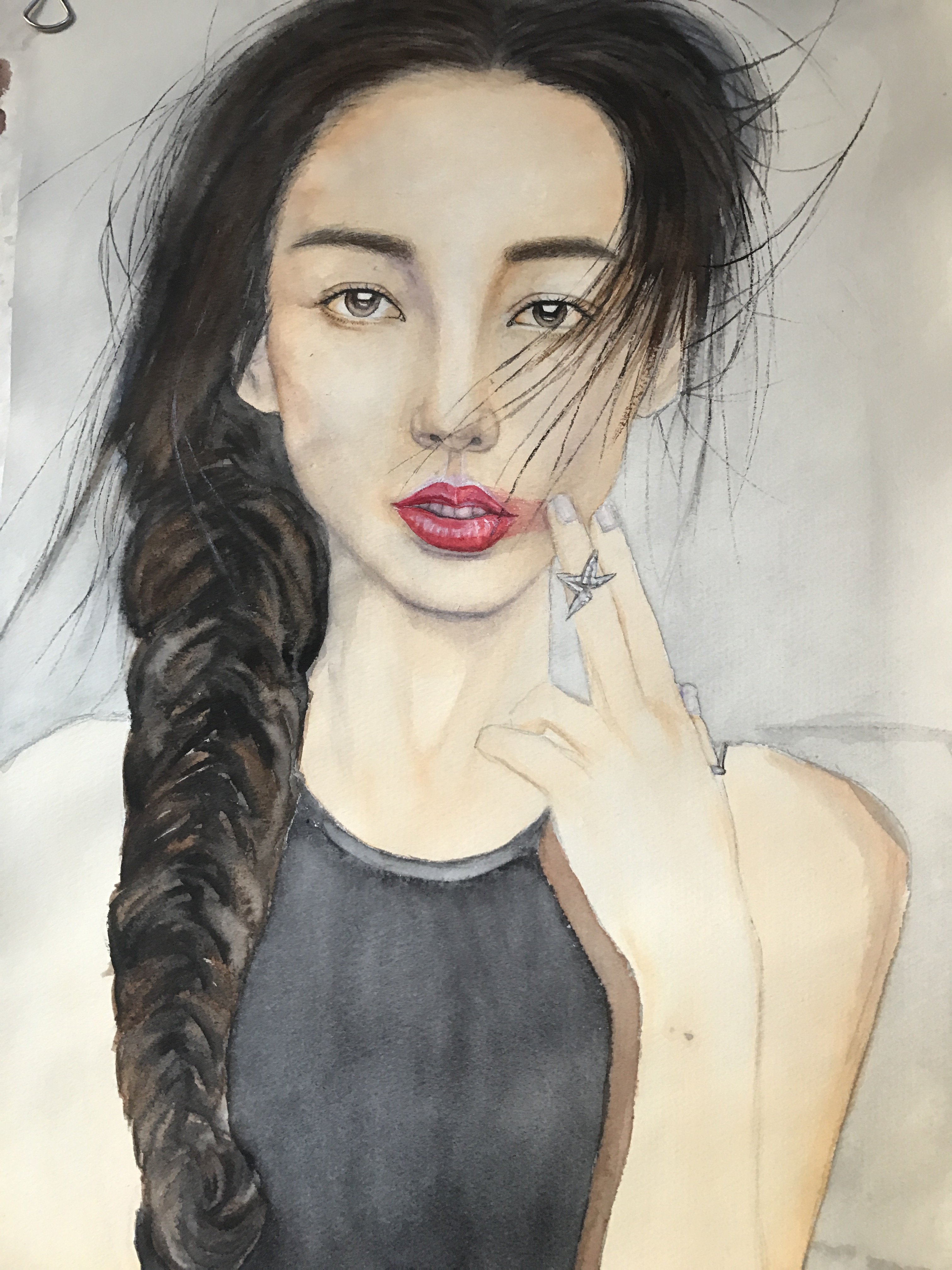 杨颖卡通手绘教程