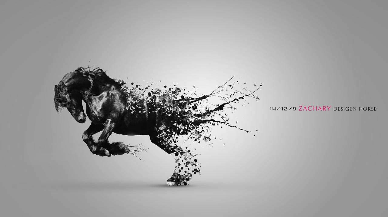 ZACHARY-墨点抽离HORSE|平面|图案|梦魇jun