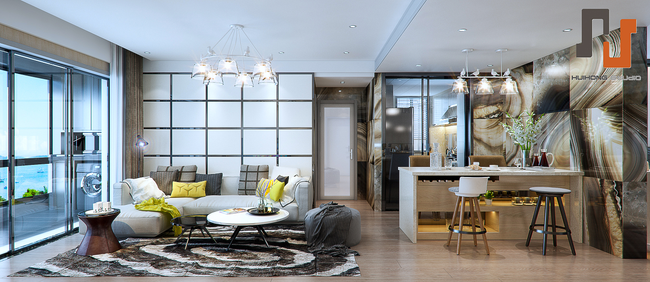 现代港式风格|空间|室内设计|delde - 原创作品图片