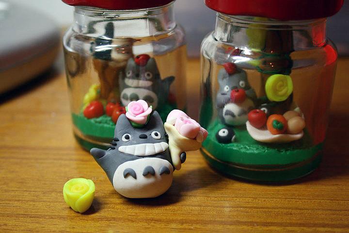 手工软陶制作 龙猫