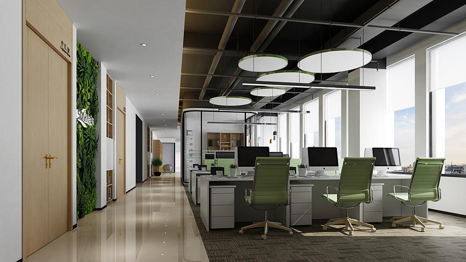 腾启办公装修设计|空间|室内设计|大简空间设计