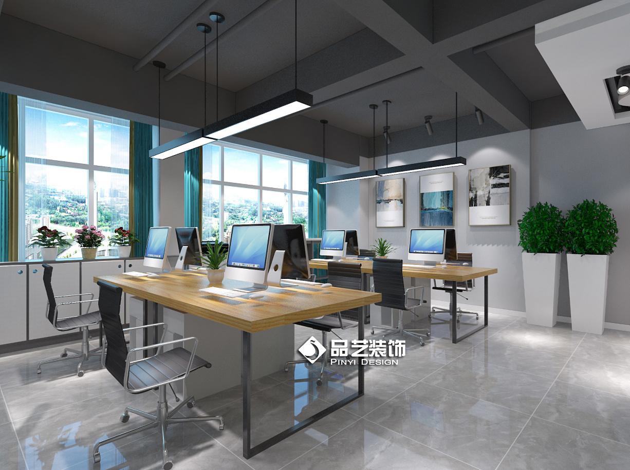 现代工业风办公室创客中心装修设计