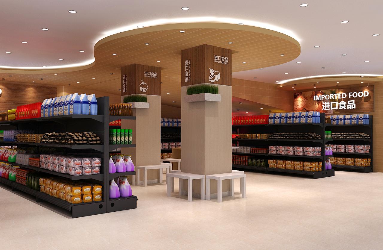超市进口区域设计方案|空间|展示设计 |洛瑜 - 原创