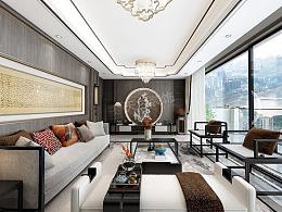 江南龙湖原麓装修,新中式风格设计图,渝北天别墅饰长滩菏泽里古装图片