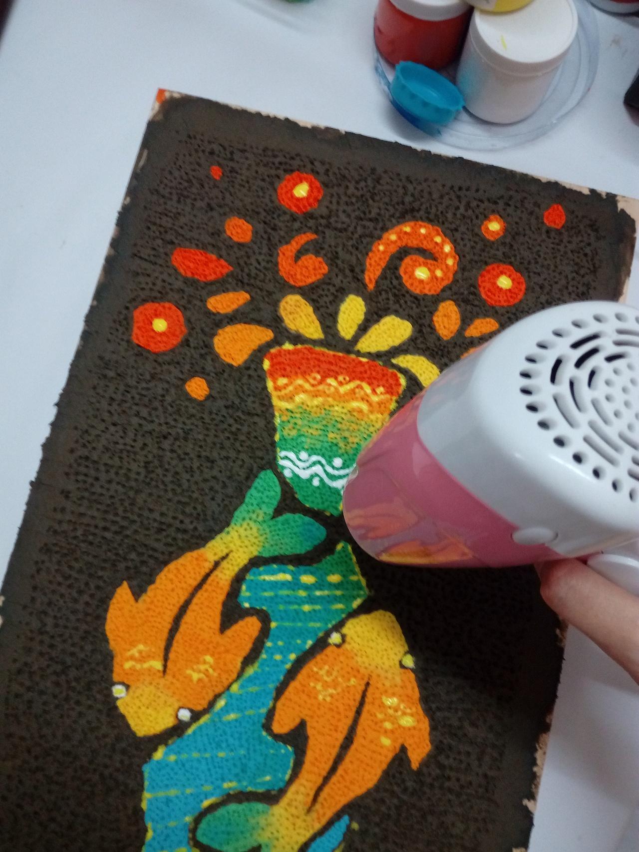 纸巾装饰画——手工制作